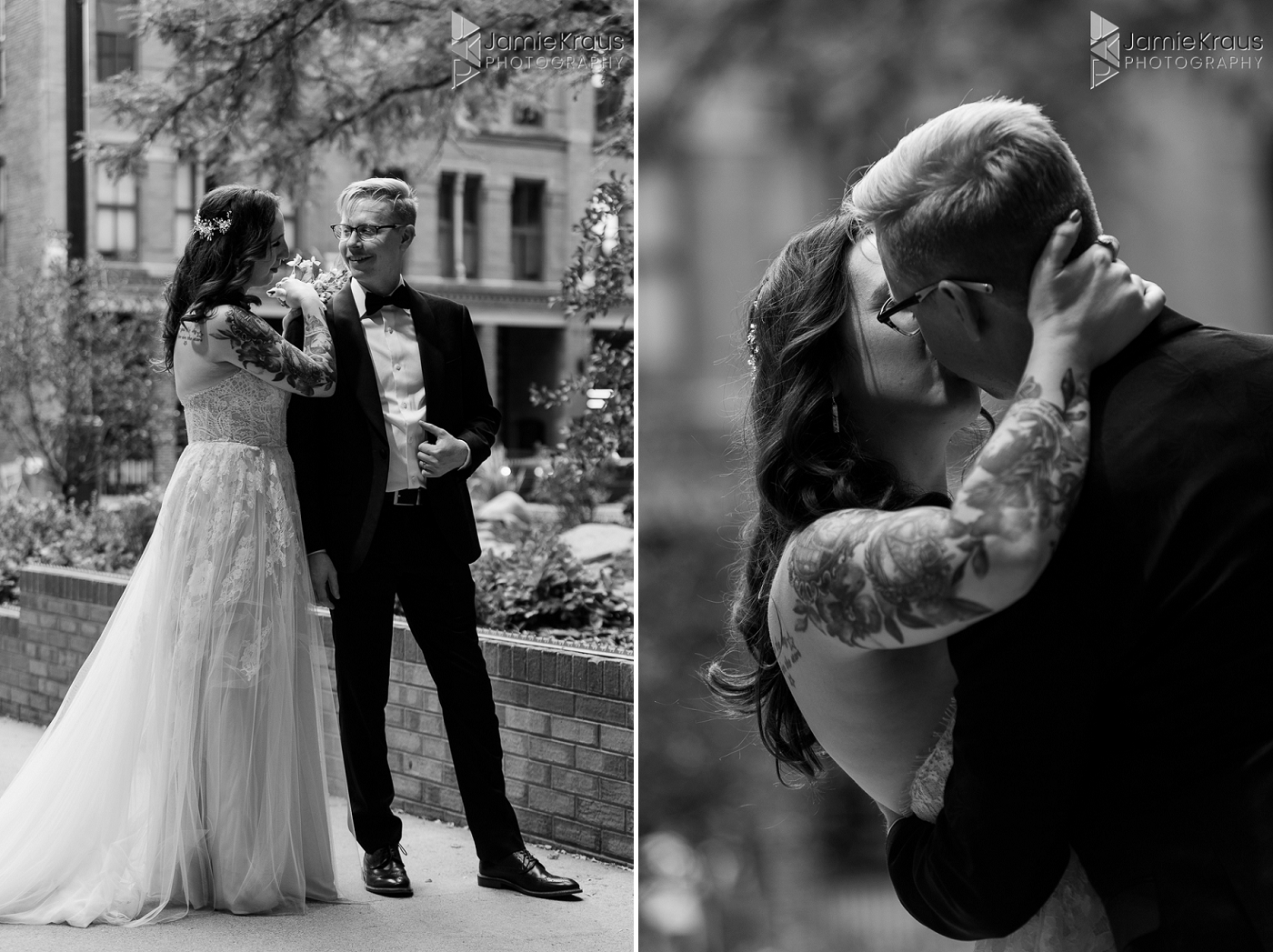 downtown denver wedding portraits