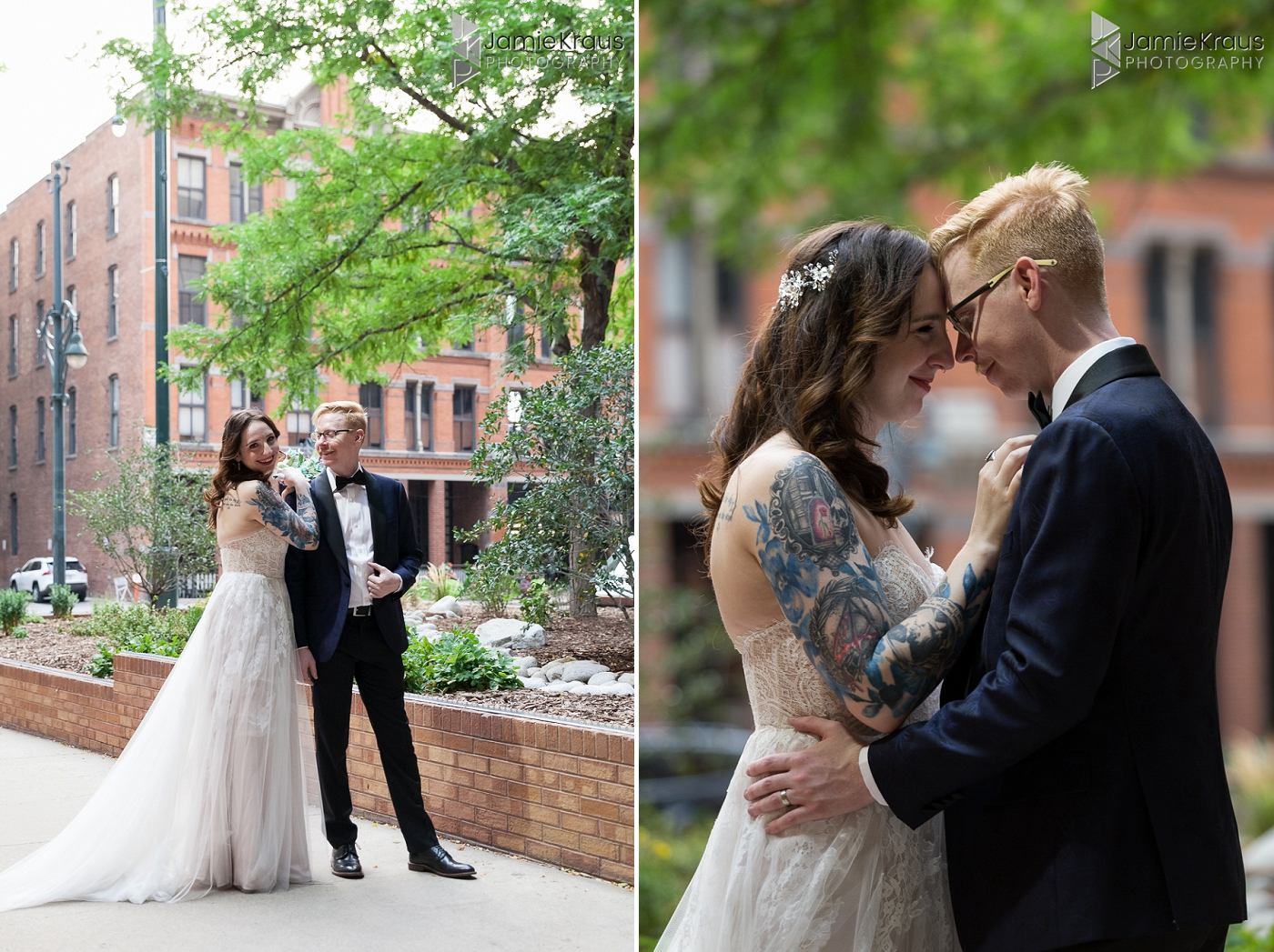 denver city wedding portraits