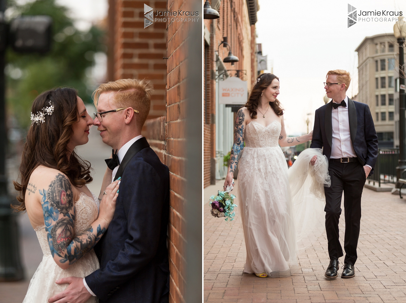 denver urban wedding portraits