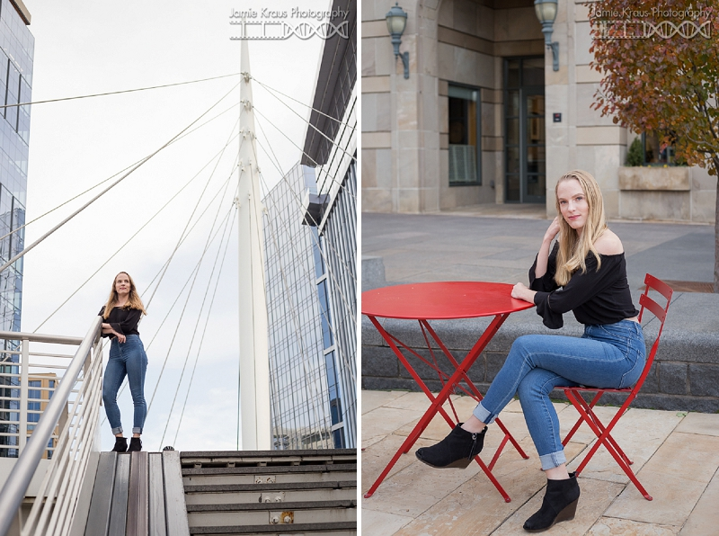 denver millennium bridge senior session