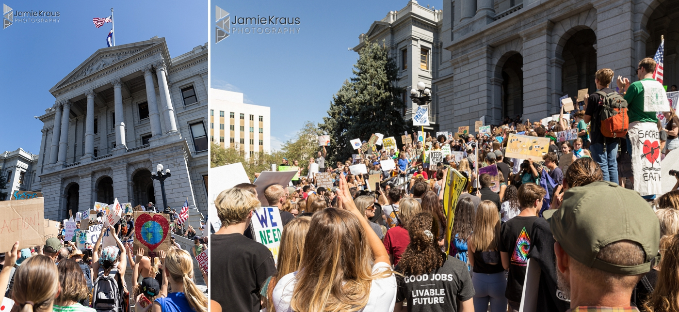 Global climate strike at Colorado Capitol Building